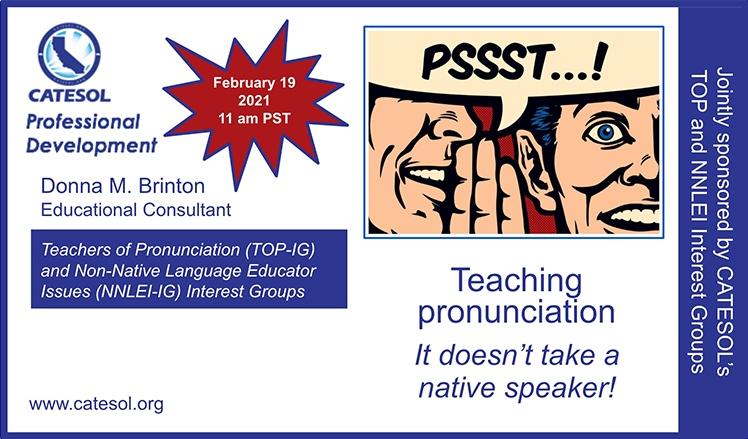 Teaching pronunciation It doesn't take a native speaker