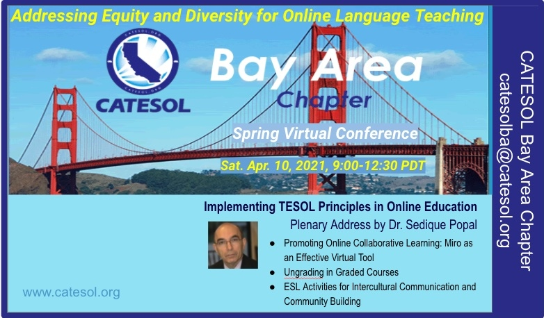 Bay Area Chapter spring 2021 event