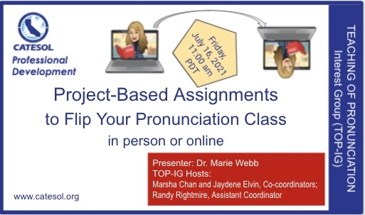 Project based assignments for pronunciation